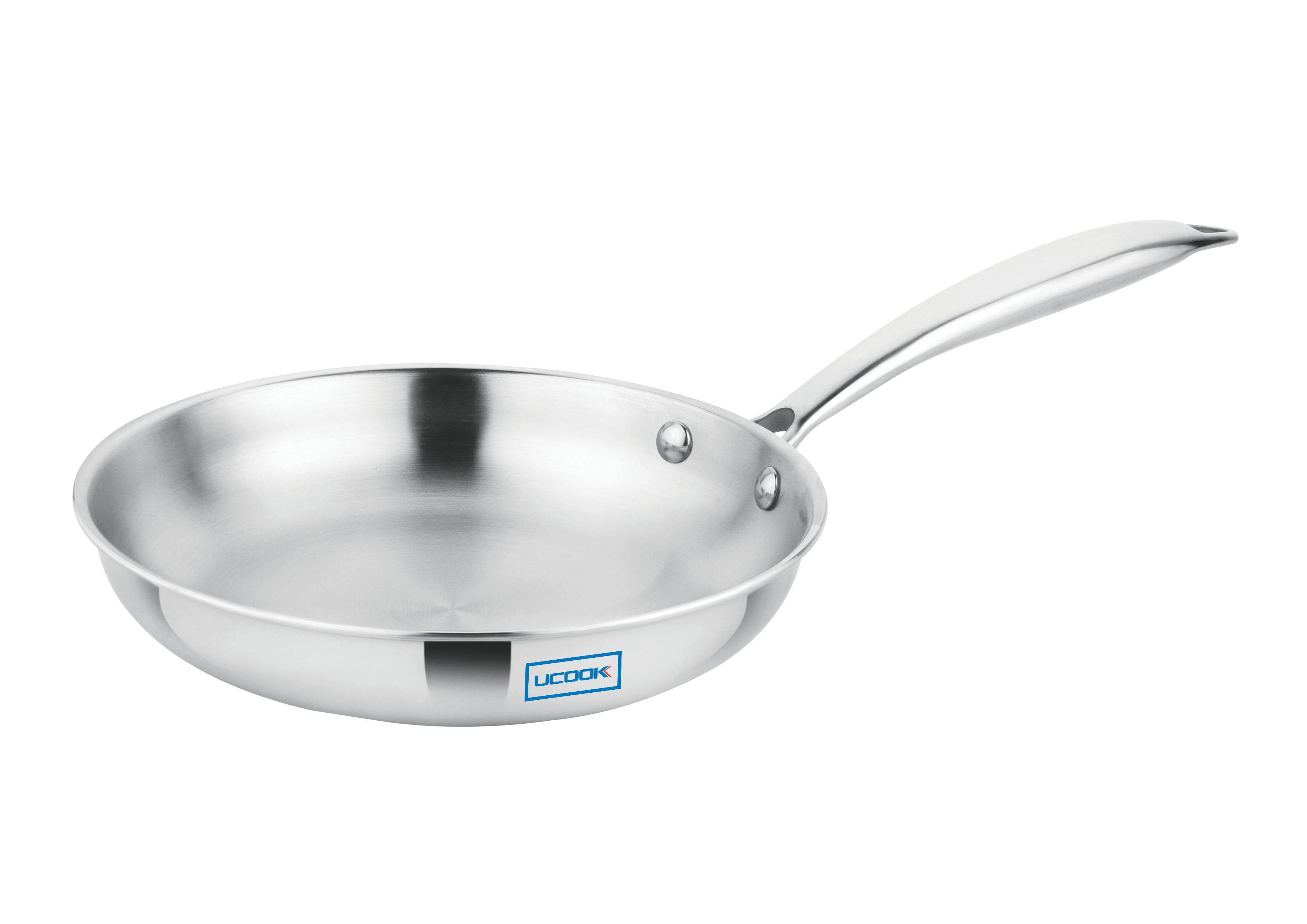 Cookware Premium- UCOOK SS Triply Frypan induction compatible