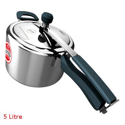 Pressure Cooker- United Platinum CIBO X1 IL Aluminium body with SS Lid - Silicone Handles 5 Ltr