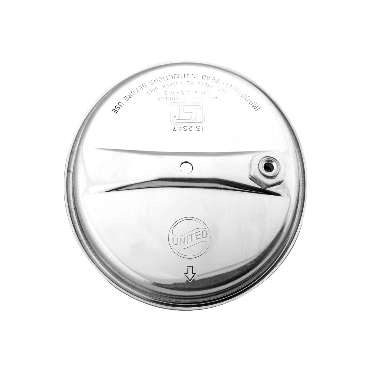 UNITED LID WITH SAFETY VALVE 1 LTR