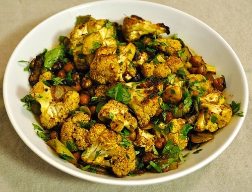Recipe of Roasted Cauliflower with Red Chilli,Lime and Cilantro