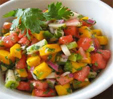 Recipe of Watermelon Orange Salsa Summer Bites