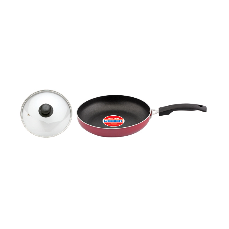 NS Frypan plus Glass Lid with Induction Base 200mm/3mm