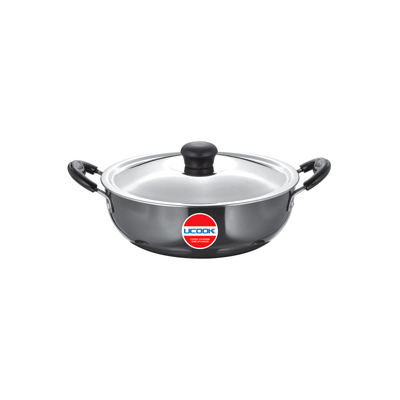 UCOOK Platinum HA Kadhai with Steel lid 3Ltr (240mm/3.25mm)