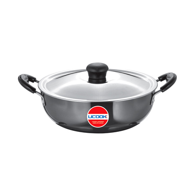 UCOOK Platinum HA Kadhai with Steel lid 4Ltr(260mm/3.25mm)