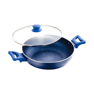Cookware - UCOOK Platinum NS KADAI - SPECKLE FINISH 260mm/3mm/3.5lt