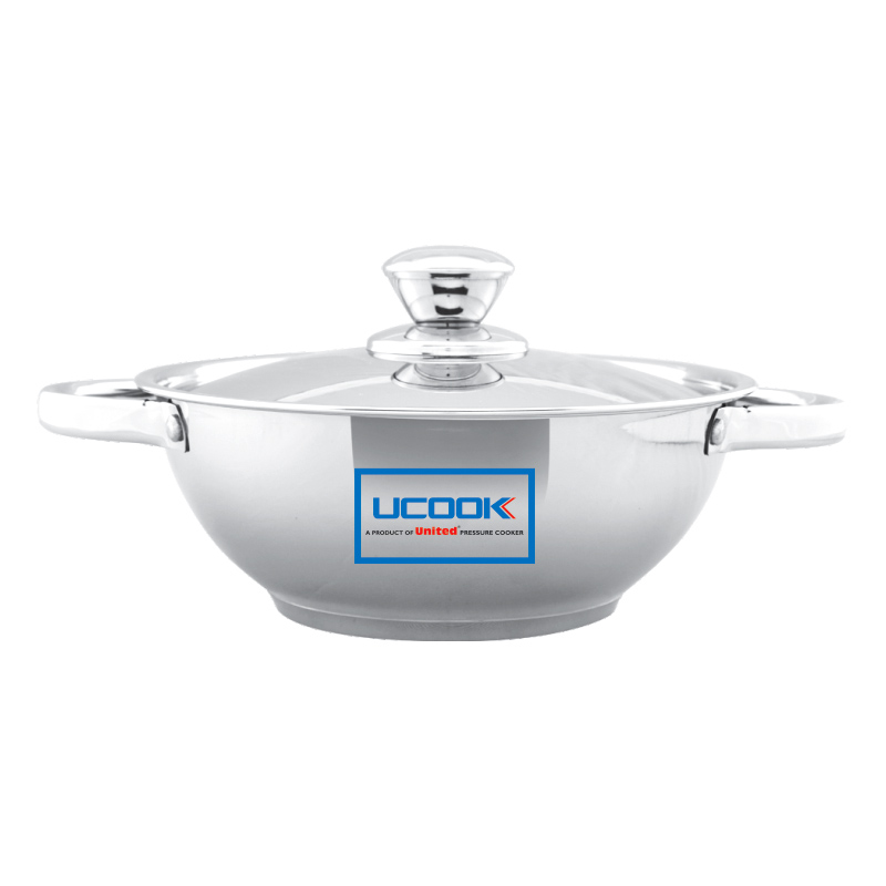 UCOOK Platinum LIFETIME KADAI 220 MM S.S