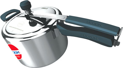 Pressure Cooker- UCOOK Platinum  CIBO X1 PLUS IL Aluminium body with SS Lid - Silicone Handles 5 Ltr
